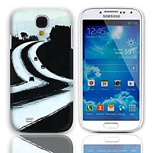 TOPQQ Long Way to Go Design Hard Case with 3-Pack Screen Protectors for Samsung Galaxy S4 I9500