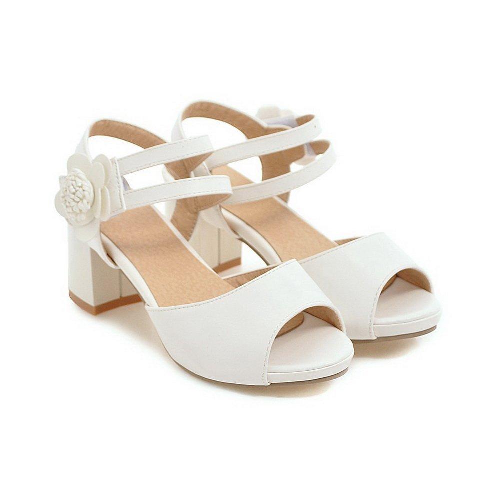 BalaMasa Womens Dress Cold Solid Lining Solid Cold Urethane Sandals ASL05188 B07FD5PFT9 6.5 B(M) US|White 0bfaca