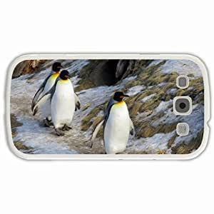 Personalized Samsung Galaxy S3 SIII 9300 Back Cover Diy PC Hard Shell Case Emperor Penguin White