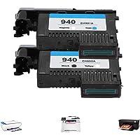 Głowica drukująca, profesjonalna głowica drukująca do HP940 C4900A C4901A do serii 8000 8500 (czarny i żółty + czerwony…
