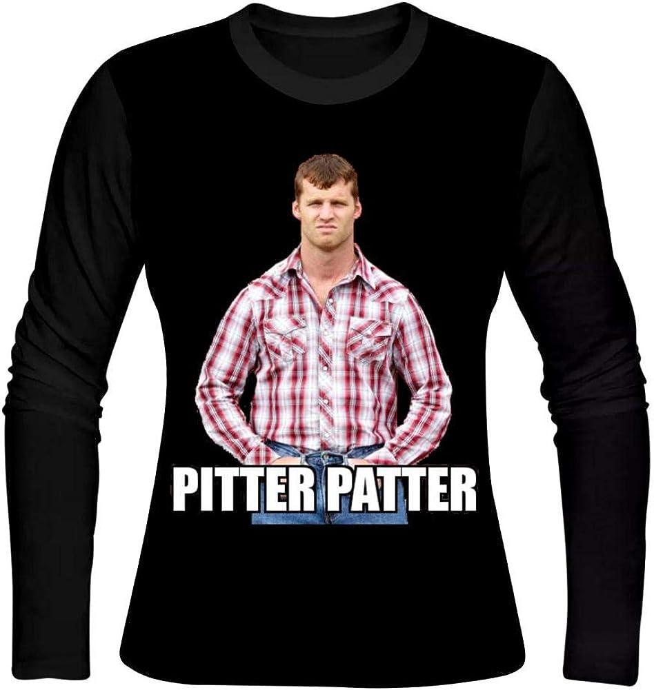 Amazon Com Ppwwvv88 Girl S O Neck Pitter Patter Letterkenny 3d