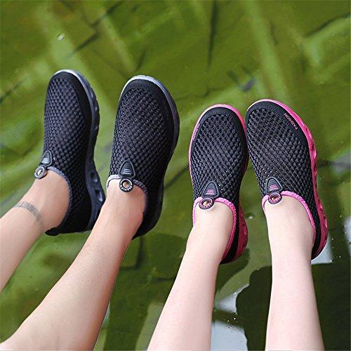 Sommer Wasserschuhe für Leichtgewicht Strand Outdoor Herren Atmungsaktiv Damen Sports Dry Quick Aquaschuhe Black2 Rutschfest AIRAVATA 4Ut1nqxp