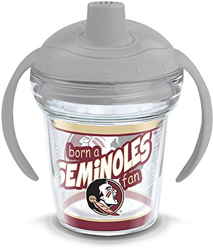Tervis 1292270 NCAA Florida State Seminoles Born A Fan Sippy Cup With Lid, 6 oz, Clear ()