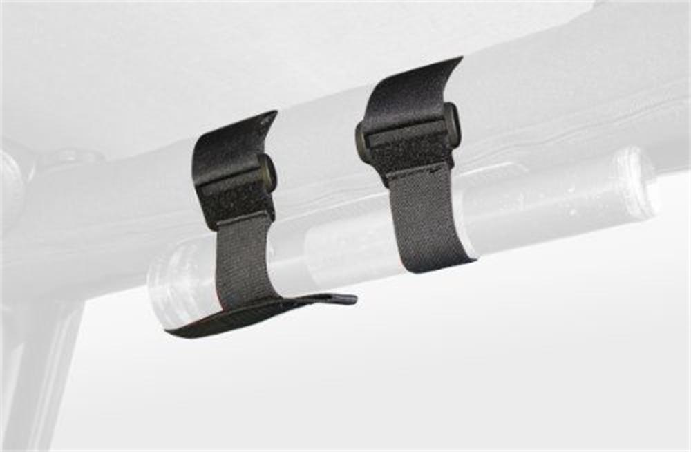 Black Roll Bar Mount Mag 2'-3' Sport Bar Flashlight Holder for 2007-2018 Jeep JK Wrangler 2-Door Hooke Road
