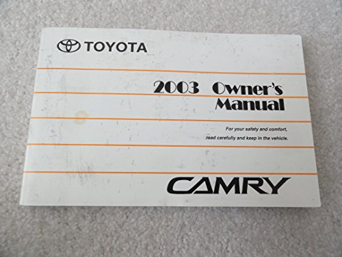 2003 toyota camry owners manual toyota amazon com books rh amazon com 2003 toyota camry solara owners manual 2003 toyota camry service manual