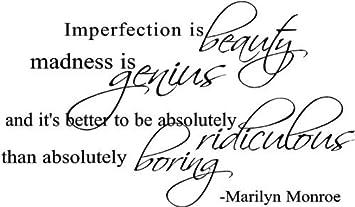 Sticker Mural Avec Citation De Marilyn Monroe Imperfection