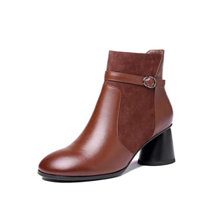 6473cd19b236e Amazon.com: YaXuan Women's Shoes, Woman Autumn Winte Leather Booties ...