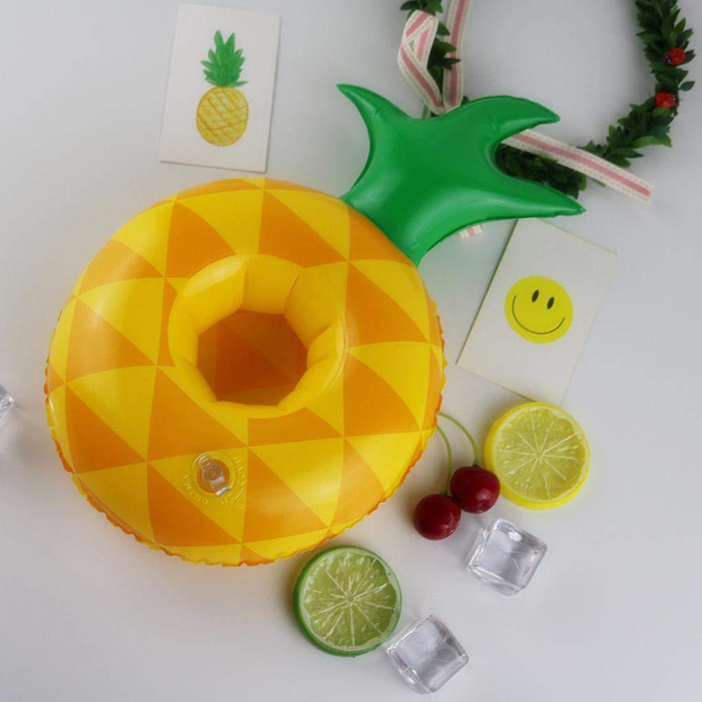 Sunlera Pool-Frucht-Form Inflatable Getr/änk Becherhalter Wassermelone Ananas Zitrone Schwimmf/ähiges Untersetzer