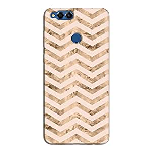 Cover It Up - Brown Pink Tri Stripes Honor 7x Hard case