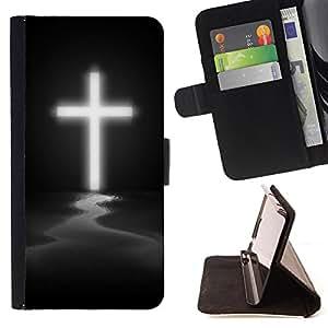 Devil Case- Estilo PU billetera de cuero del soporte del tir¨®n [solapa de cierre] Cubierta FOR LG Optimus G2 D800 D801 D802 D803 VS980 F320- OMG God Cross Jesus