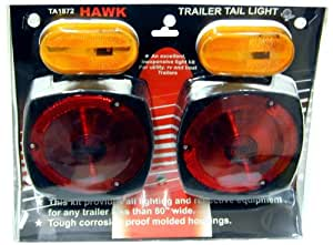 Red Trailer Tail Lights And Amber Side Markers For Trailers Up To 80 Inches Wide
