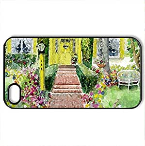 Marys Home - Case Cover for iPhone 4 and 4s (Houses Series, Watercolor style, Black)