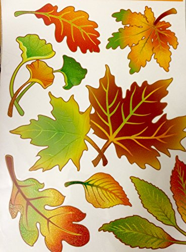 - Window Clings Decor for Windows Harvest Fall Autumn Thanksgiving Fall Leaves