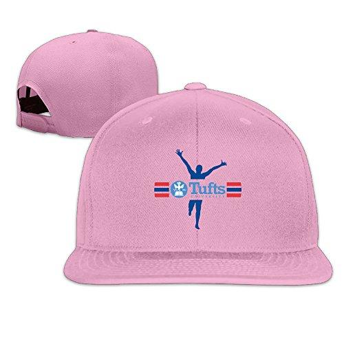 [WG Custom Best Graphic Adjustable Tufts University TU Mark Hip Hop Cap Hat Pink] (Jumbo Hip Hop Adult Hat)