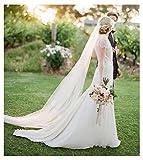 EllieHouse Women's 2 Tier Chapel Wedding Bridal Veil With Free Comb E23
