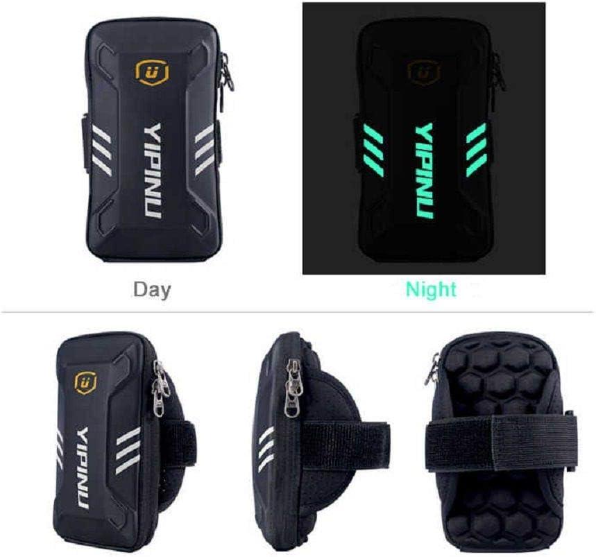 DFV mobile Housse /Étui R/éfl/échissant /Étanche pour Brassard avec 2 Compartiments Sport Fitness Cyclisme Gym/pour Xiaomi Redmi Note 8T - Noir 2019