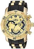 Invicta Men's Pro Diver Stainless Steel Quartz Watch with Silicone Strap, Black, 25 (Model: 23427)