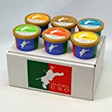 ジェラート専門店ジェラテリアUNO 愛媛産ジェラート6種類の詰め合わせ アイスクリーム 6個セット のし メッセージカード対応