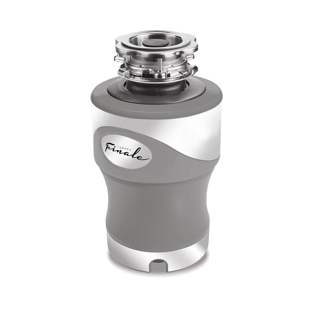 Luxart Finale Garbage Disposer with Cord - 10 Year - 3/4 HP