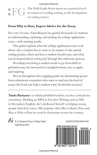 how to write a college application essay expert advice to help how to write a college application essay expert advice to help you get into the college of your dreams field guide series tania runyan 9781943120161