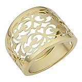 14k Yellow Gold Filgree Cigar Band Ring (16.3mm)