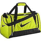 Nike Brasilia 6 Duffel Bag (Small, VOLT/BLACK/BLACK)