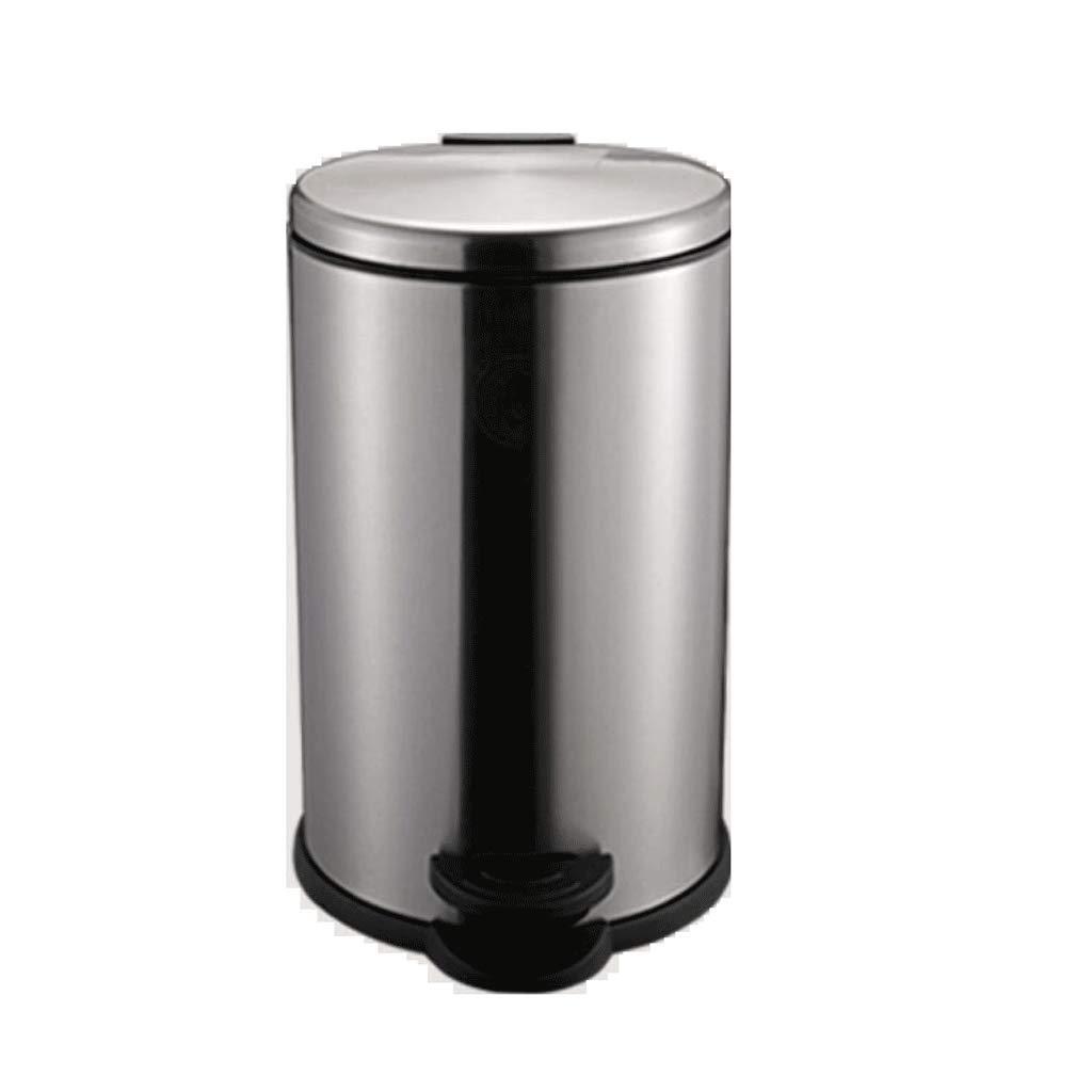 LINGZHIGAN ごみ箱キッチン容器ステンレススチールペダルクリエイティブホームバスルームミュートサイレント油圧下降12L (容量 : 20L) B07KVYX9R3  20L