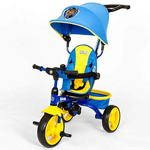 KidsEmbrace Paw Patrol Chase 4-in-1 Push and Ride Stroller Tricycle ()