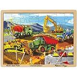 Melissa & Doug Construction Vehicles Wooden Jigsaw Puzzle With Storage Tray (48 pcs)