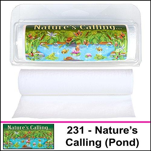 Gotta Tinkle! Mini Travel Size Toilet Paper Rolls (231 Nature's Calling) (Stream Toilet Paper)