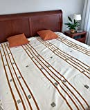 Exclusive King size KUKUKLAN bedspread, handmade from Chiapas, Mexico.