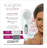 Cleansing Brush Conair - True Glow Sonic Facial Brush for professional results renew revive refresh with 4 facial cleansing brushes and storage pouch