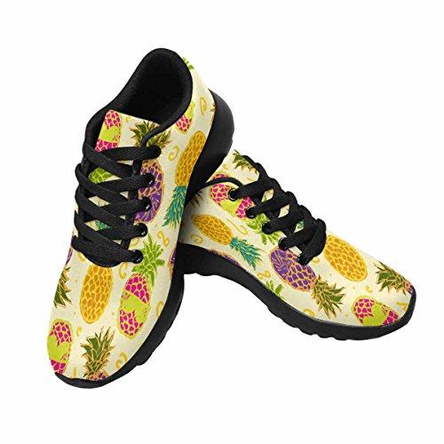 Scarpa Da Jogging Leggera Da Donna Running Running Leggera Easy Go Walking Comfort Sportivo Scarpe Da Ginnastica Modello Carino Colorato Con Ananas Disegnati A Mano