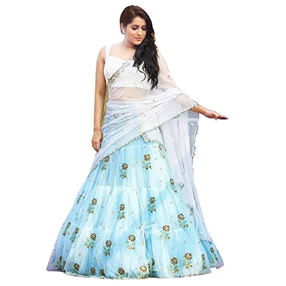 Buy Astha Bridal Women S Net Lehenga Choli Multicolour Free Size At Amazon In