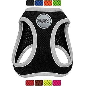 DDOXX Arnés Perro Step-In Air Mesh, Ajustable, Reflectante, Acolchado | Muchos Colores & Tamaños | para Perros Pequeño…