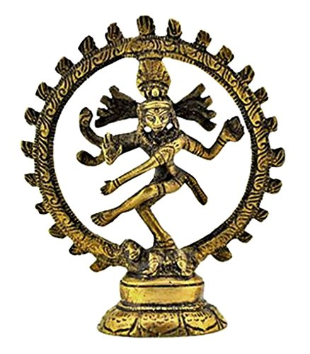 Statuary From India 1 x Shiva (Natraj) Brass Statue, 4
