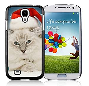 Individualization Samsung S4 Protective Skin Cover Christmas Cat Black Samsung Galaxy S4 i9500 Case 19