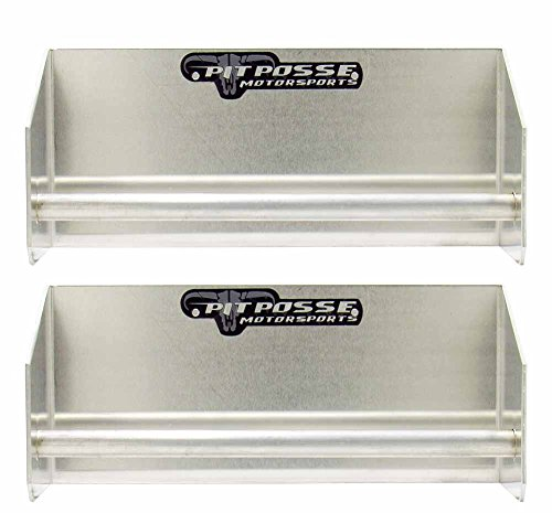 Enclosed Trailer - Pit Posse 442 Set of 2 Tie-Down Hangers Junior Ratchet Strap Rack Holder Race Car Enclosed Trailer (Silver/Unpainted)