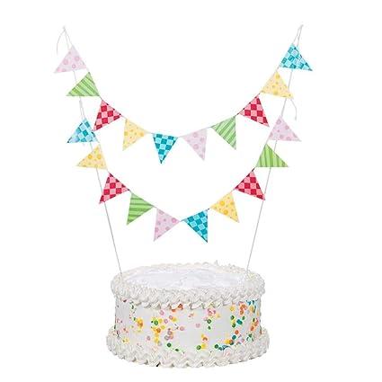 Paper 1st Birthday Circus Cake Bunting