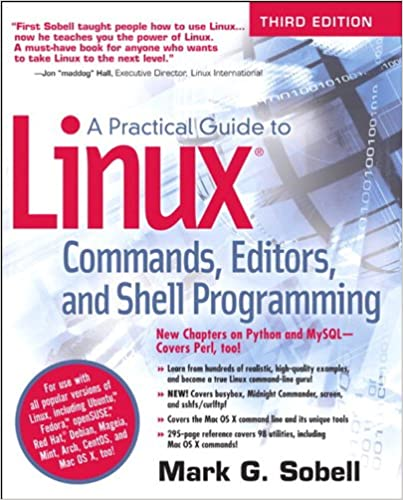Amazon com: A Practical Guide to Linux Commands, Editors, and Shell