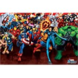 Poster Marvel Heroes - Attack - preiswertes Plakat, XXL Wandposter