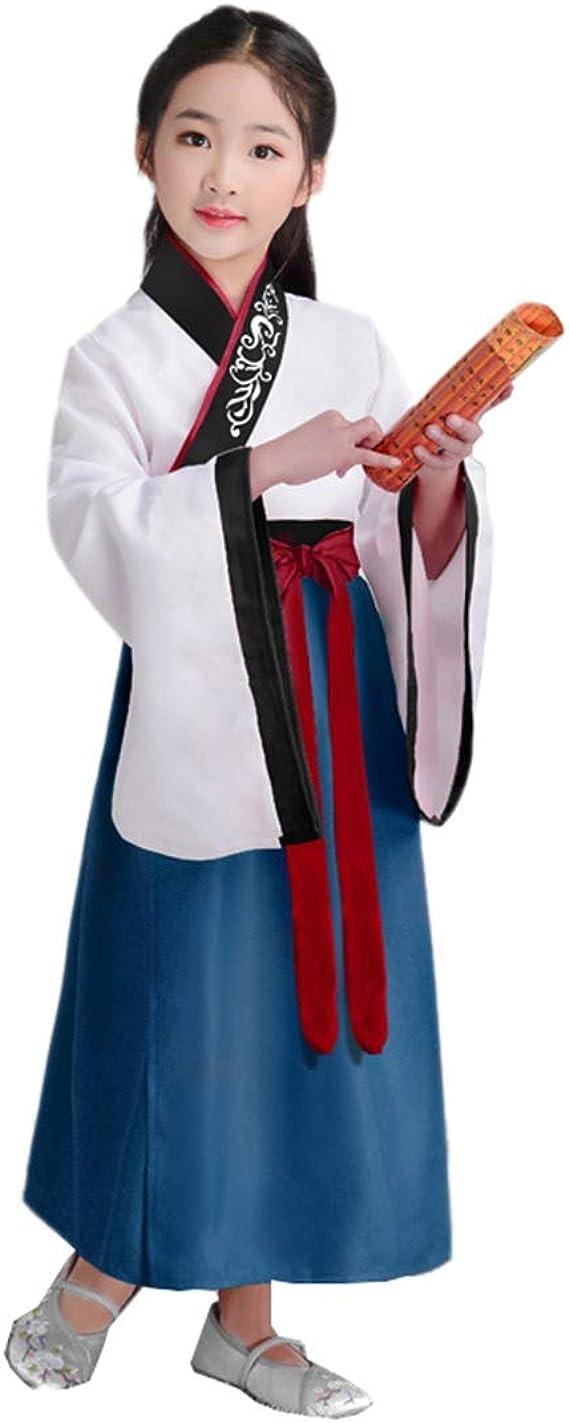 Lazutom - Disfraz de hanfú Tradicional China Antigua para niña ...
