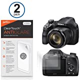 BoxWave Sony Cyber-shot DSC-HX400 ClearTouch Anti-Glare Screen Protector (2-Pack) - Premium Quality Sony Cyber-shot DSC-HX400 Anti-Glare, Anti-Fingerprint Matte Film Skin to Shield Against Scratches (Includes Lint Free Cleaning Cloth and Applicator Card)