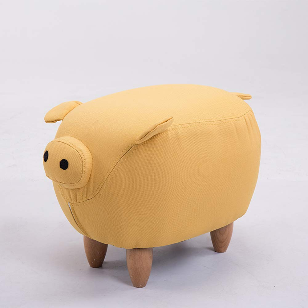 Yellow A Animal Footstool,Creative Pig shoes Bench Footstool Sofa Stool Home Decoration Ornaments Test shoes Bench,Purple,A