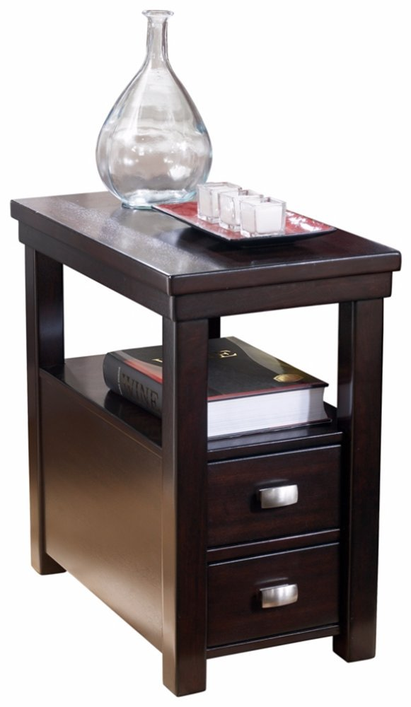 Ashley Furniture Signature Design - Hatsuko Chairside End Table - Rectangular - Espresso