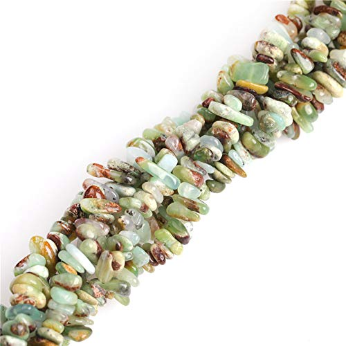 7-8mm Green Opal Chips Beads for Jewelry Making Natural Gemstone Semi Precious 34