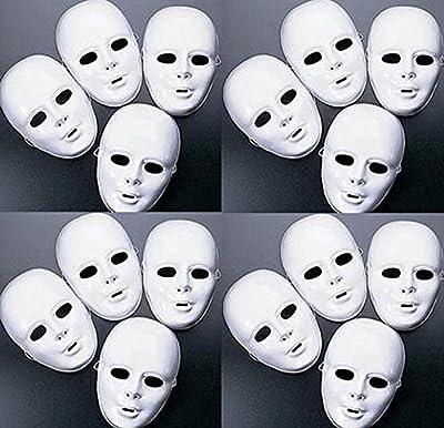 MASKS White Plastic Full Face Decorating Craft Halloween School
