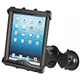 RAM MOUNTS (RAM-B-189-TAB8U Double Twist Lock Suction Cup Mount with Tab-Tite Universal Clamping Cradle for Large Tablets with Heavy Duty Cases