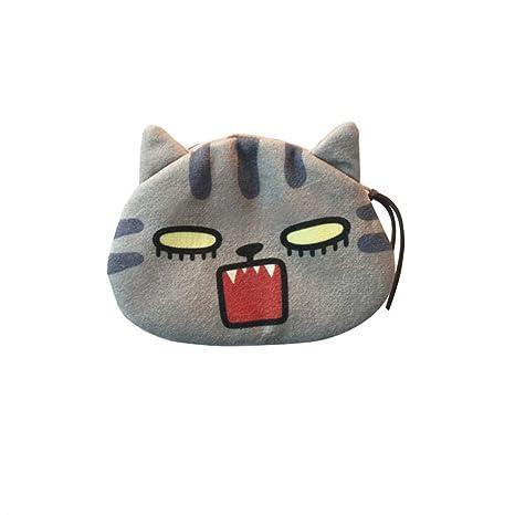 AchidistviQ - Monedero Redondo de Felpa para Gatos, con ...