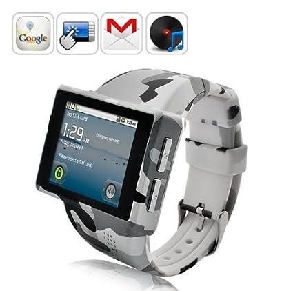 cfd3e1437ec4 CwatchBuy Smartwatch Android 2.2 Phone Bluetooth GPS - Z1 Camo  Amazon.ca   Electronics